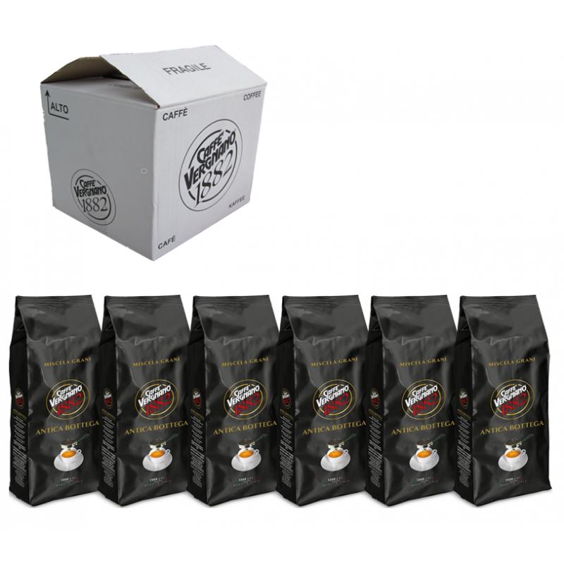Кофе в зернах Vergnano Antica Bottega коробка 6 шт., 6 кг (Арабика 90%)