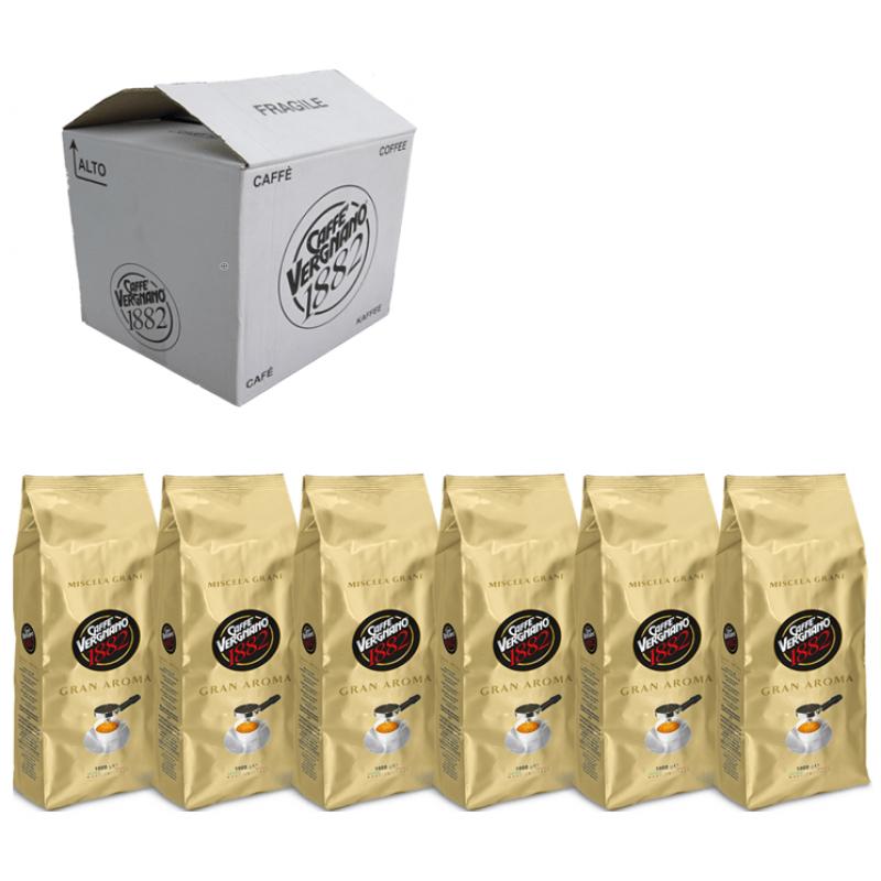 Кофе в зернах Vergnano Gran Aroma Bar коробка  6 шт., 6 кг (Арабика 60%, Италия)