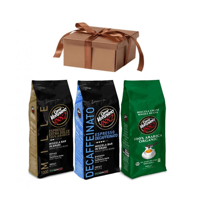 Кофе в зернах  со скидкой Vergnano 100% Арабика 3-х разных сортов, 3 кг