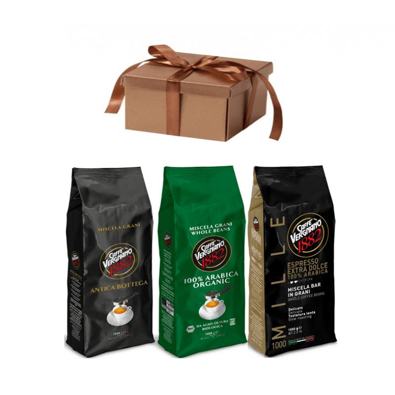 Кофе в зернах со скидкой Vergnano 99% Арабика 3-х разных сортов, 3 кг