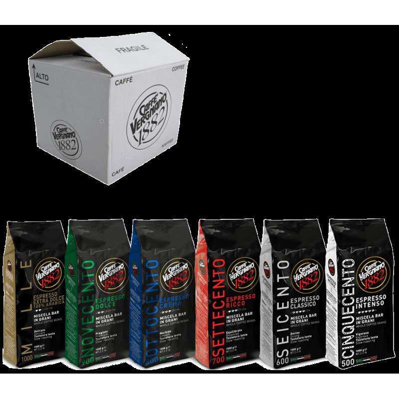 Кофе в зернах со скидкой Vergnano Classico - 6 шт разных сортов, 6 кг