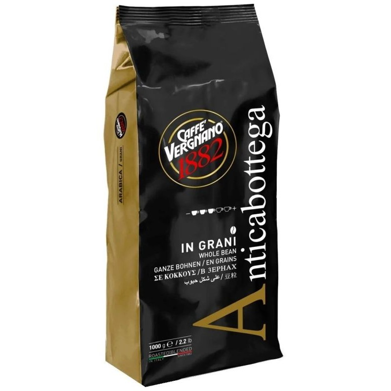 Кофе в зернах Vergnano Antica Bottega 1 кг (Арабика 90%, Италия)