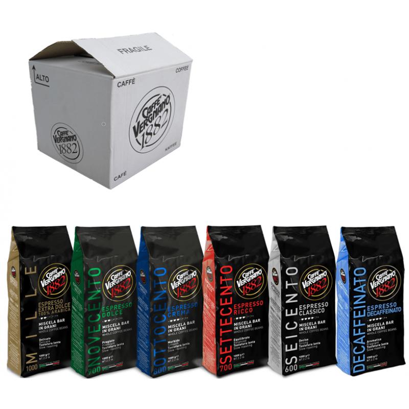 Кофе в зернах со скидкой Vergnano - 6 шт разных сортов, 6 кг