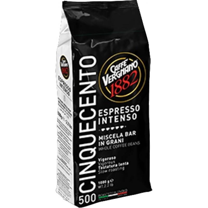 Кофе в зернах Vergnano Espresso Intenso 500 1 кг (Арабика 50%, Италия)