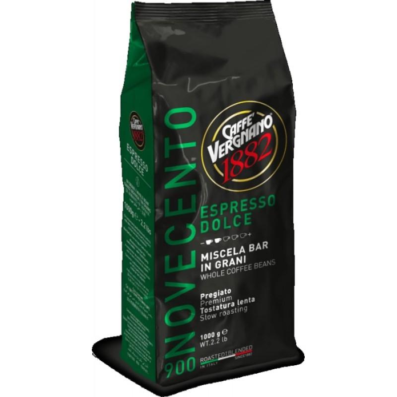 Кофе в зернах Vergnano Espresso Dolce 900 1 кг (Арабика 90%, Италия)