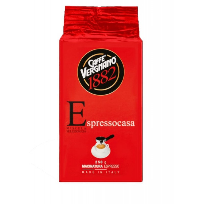Кофе молотый Vergnano Espresso 250 гр (Арабика 70%, Италия)