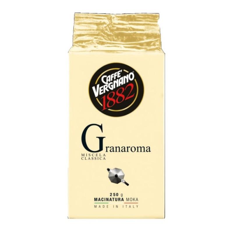 Кофе молотый Vergnano Gran Aroma 250 гр (Арабика 60%, Италия)
