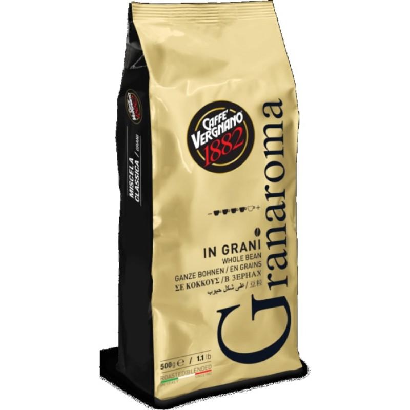 Кофе в зернах Vergnano Gran Aroma 500 гр (Арабика 60%, Италия)